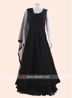Cotton Silk Designer Anarkali Suit