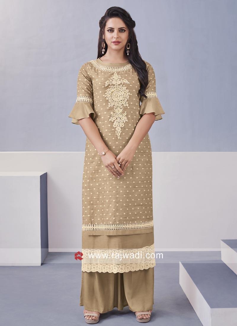 Cotton silk Designer Palazzo Salwar Kameez