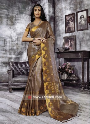 Cotton Silk Designer Saree with Blouse