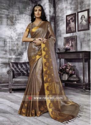 Cotton Silk Designer Saree with Blouse