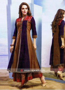 Cotton Silk Double Layer Kurti