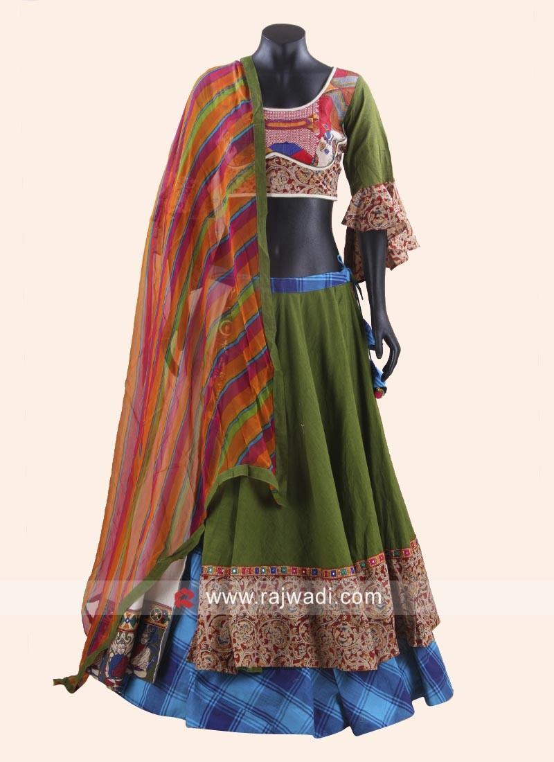 Cotton Silk Double Layered Chaniya Choli