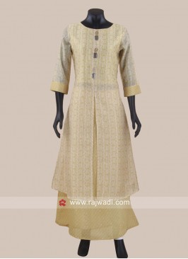 Cotton Silk Double Layered Kurti