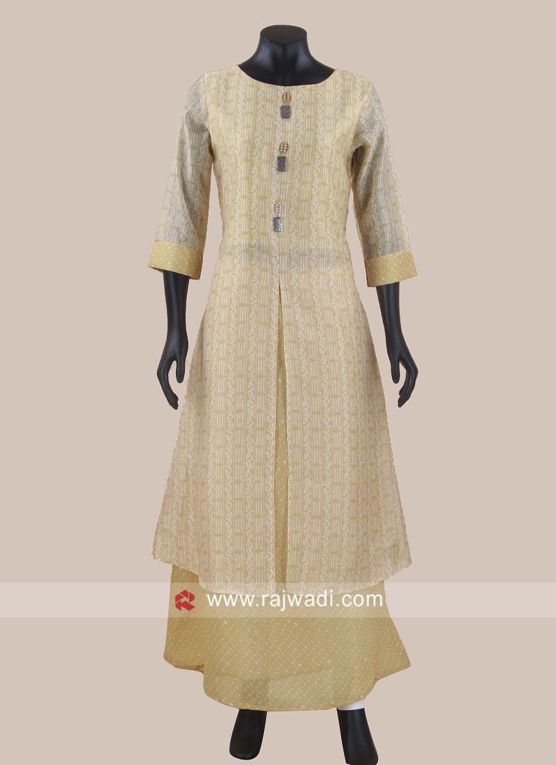 Cotton Silk Double Layered Kurti