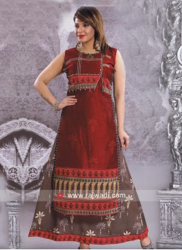 Cotton Silk Double Layered Wedding Kurti