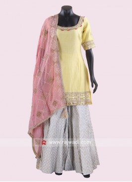 Cotton Silk Eid Gharara Suit