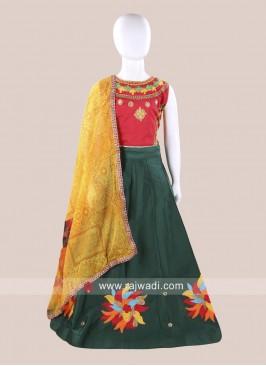 Cotton Silk Embroidered Chaniya Choli