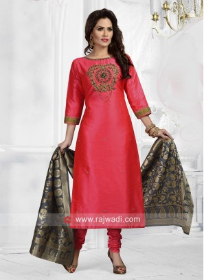 Cotton Silk Embroidered Salwar Suit