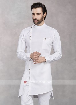 Cotton Silk Fabric Kurta For Mens