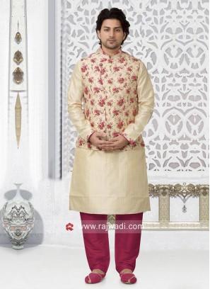 Attractive Brocade Silk fabric Nehru Jacket