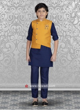 Cotton Silk Fabric Nehru Jacket