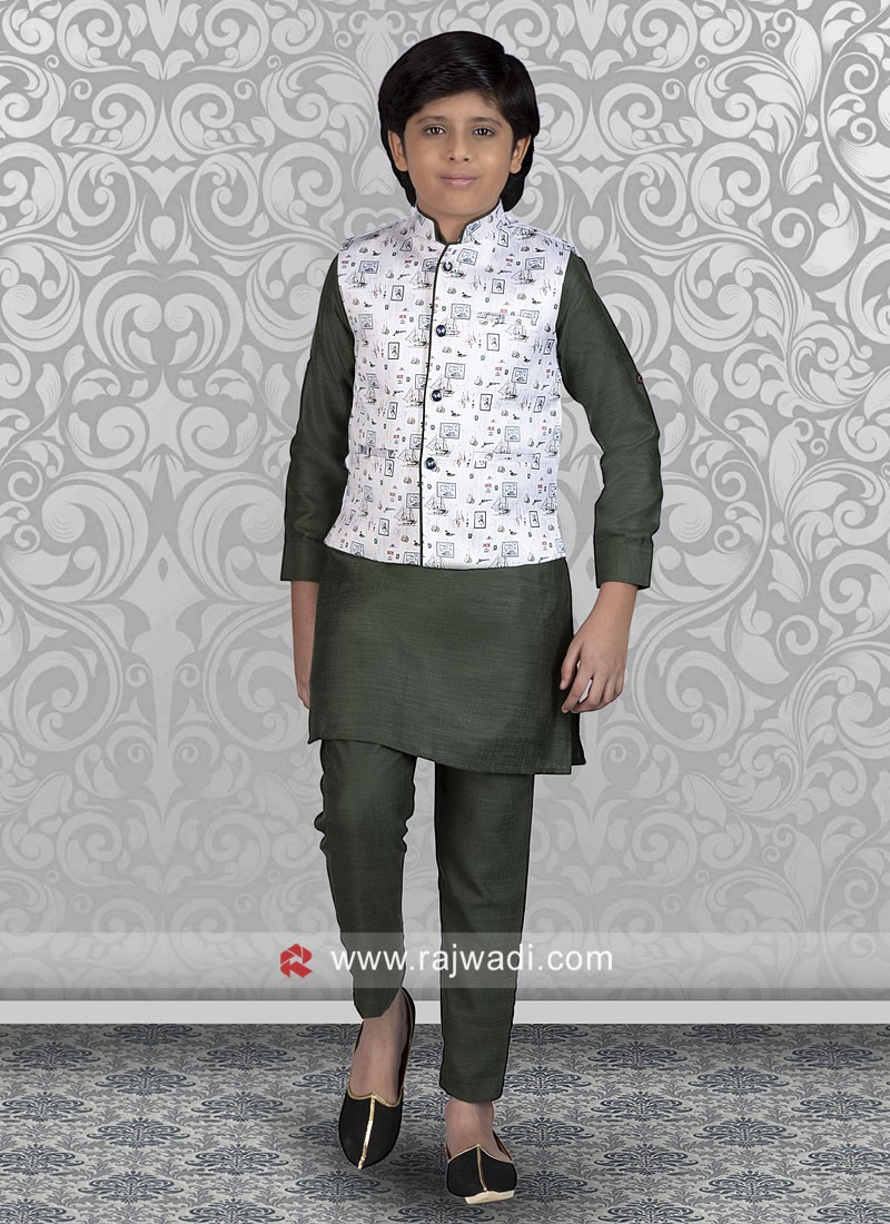 Cotton Silk Fabric Nehru Jacket For Party