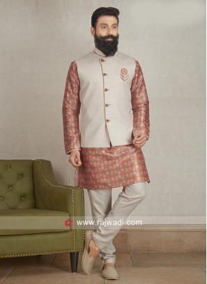 Cotton Silk fabric Party wear Nehru Jacket