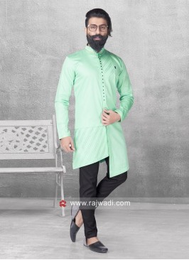 Cotton Satin Fabric Pathani Suit