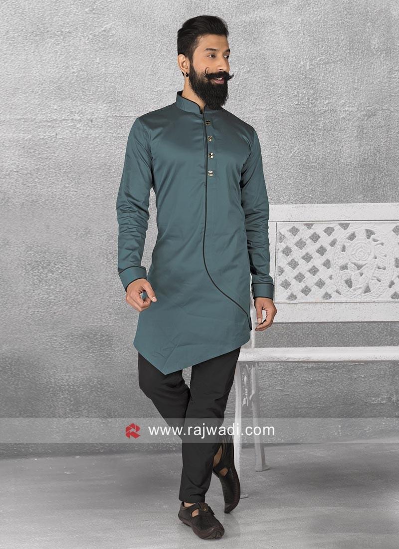 Cotton Satin Fabric Pathani Suit