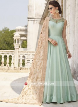 Cotton Silk Floor Length Anarkali Suit