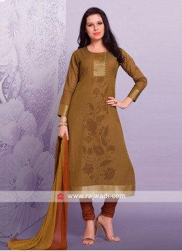 Cotton Silk Flower Print Salwar Suit