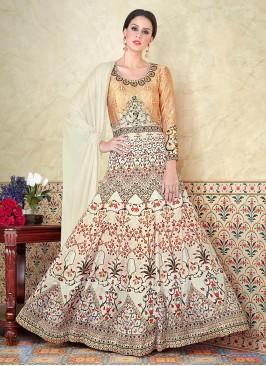 Cotton Silk Full Length Embroidered Salwar Set