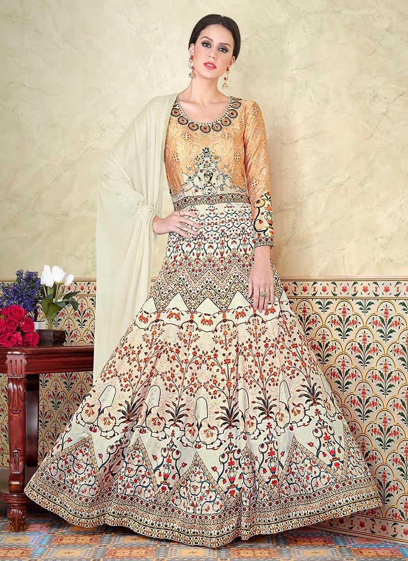 Cotton Silk Full Length Embroidered Salwar Set
