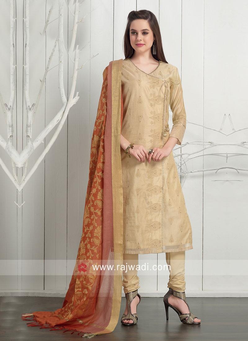 Dressline Cotton Silk Gota Patti Work Suit