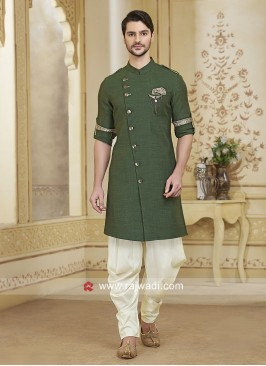 Cotton Silk Green Patiala Suit