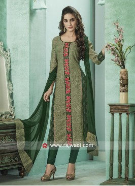 Cotton Silk Green Salwar Suit