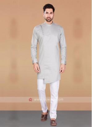 Cotton Silk Grey Kurta