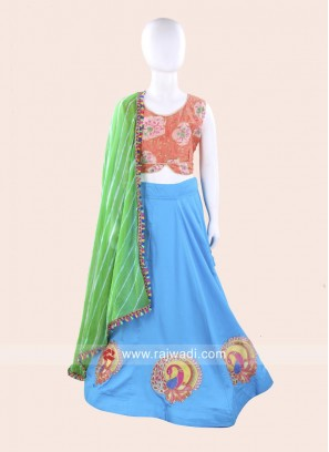Cotton Silk Kids Navratri Ghagra Choli