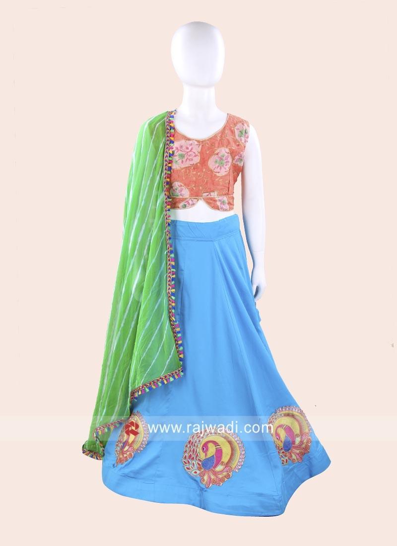 Cotton Silk Kids Navratri Ghagra Choli