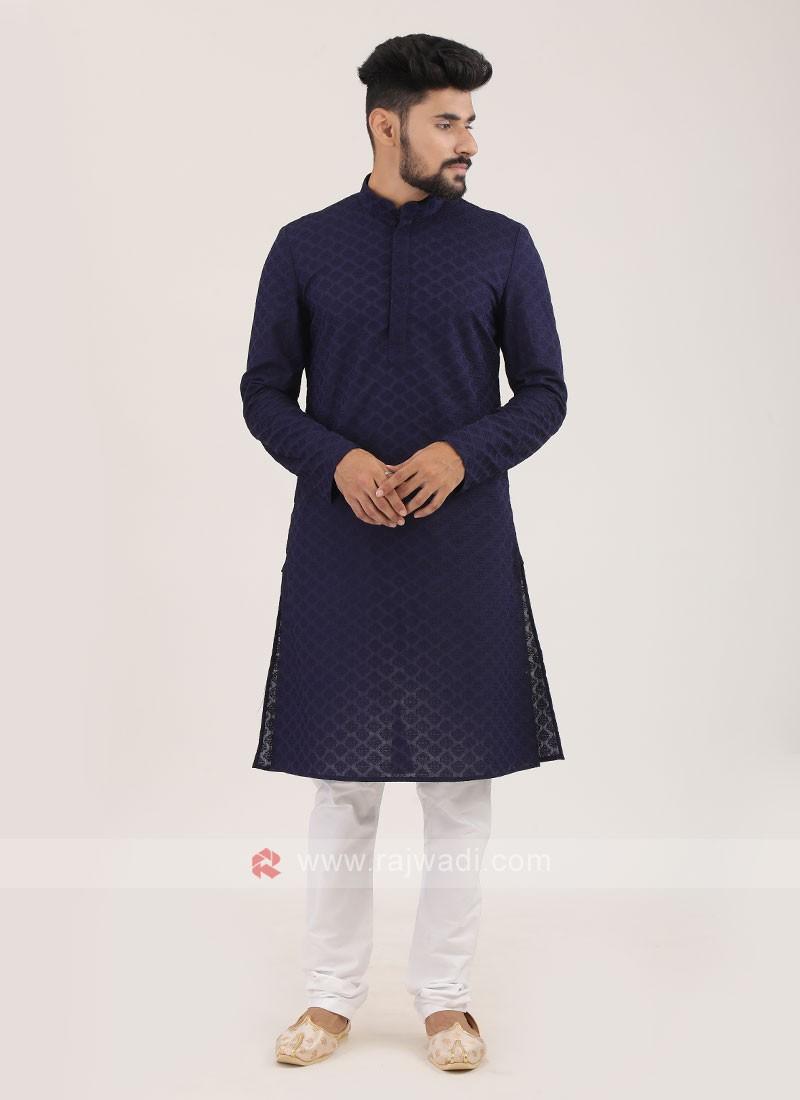Cotton Silk Kurta Pajama