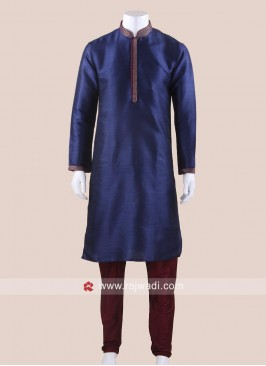 Cotton Silk Kurta Pajama For Party