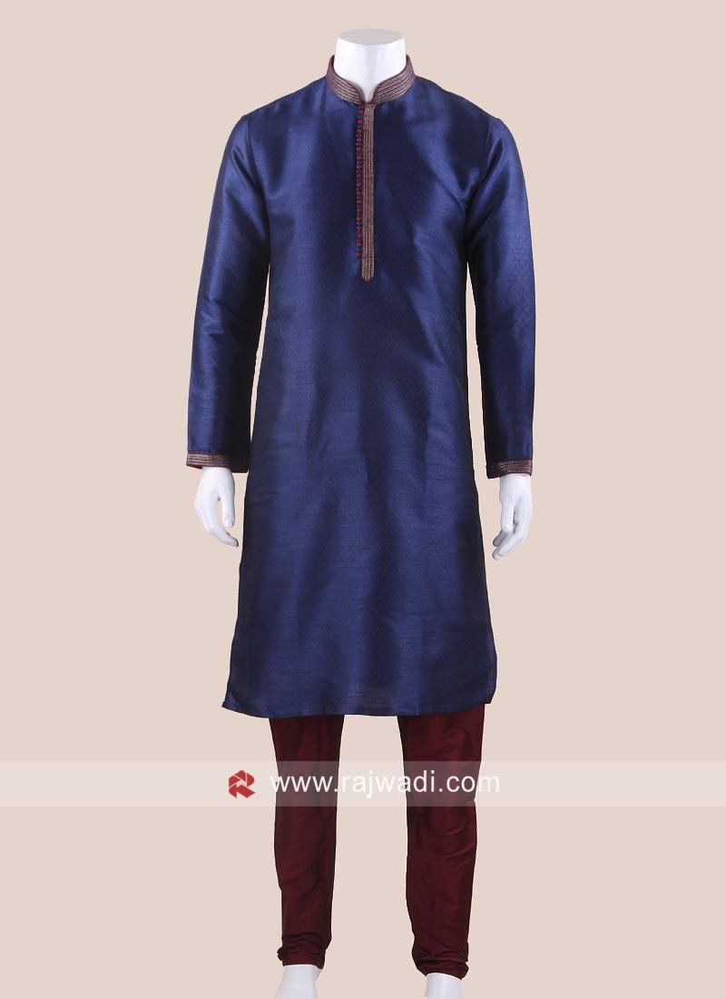 Cotton Silk Kurta Pajama For Party