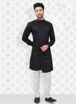 Cotton Silk Kurta Pajama Set