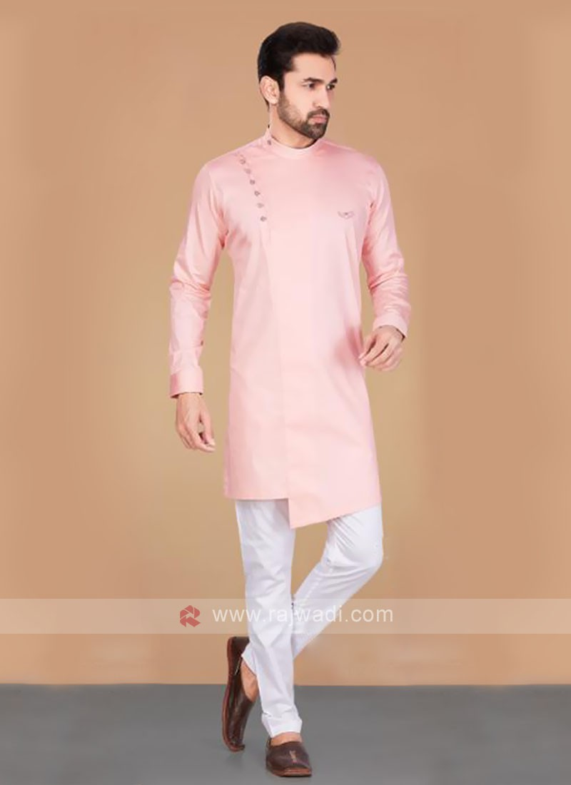 Cotton Silk Light Pink Kurta