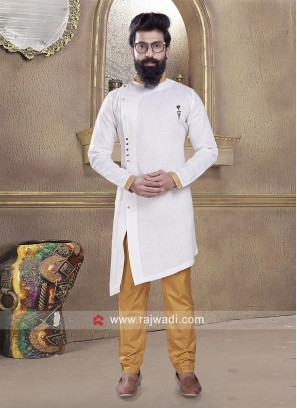 Cotton Silk Long Sleeve Pathani Suit