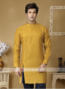 Mustard Yellow Kurta For Mens