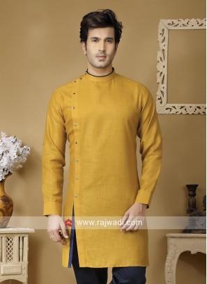 Mustard Yellow Kurta For Mens