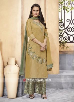 Cotton Silk Palazzo Salwar Kameez