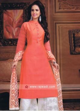 Cotton Silk Palazzo Suit