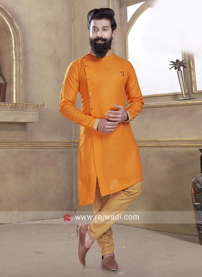 Cotton Silk Party Wear Pathani Suit