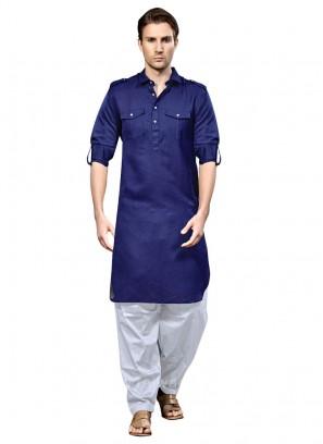 Cotton Silk Party Wear Pathani Suit