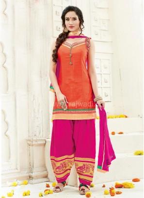 Cotton Silk Party Wear Patiala Suit