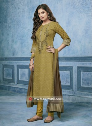 Shagufta Cotton Silk Party Wear Salwar Kameez