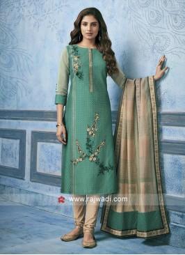 Shagufta Cotton Silk Party Wear Salwar Kameez