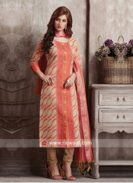 Dressline Cotton Silk Party Wear Suit