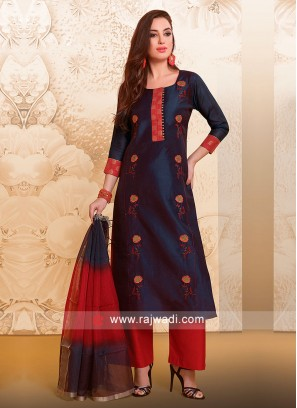 Cotton Silk Party Wear Suit