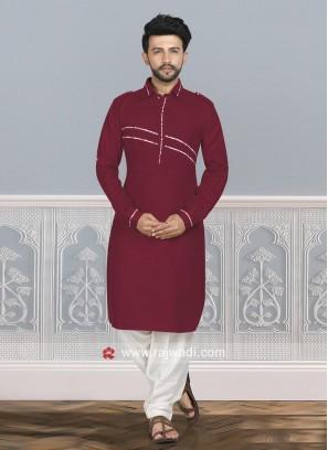 Cotton Silk Pathani Set