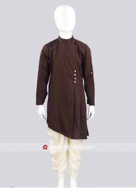 Cotton Silk Pathani Set With Side Buttons