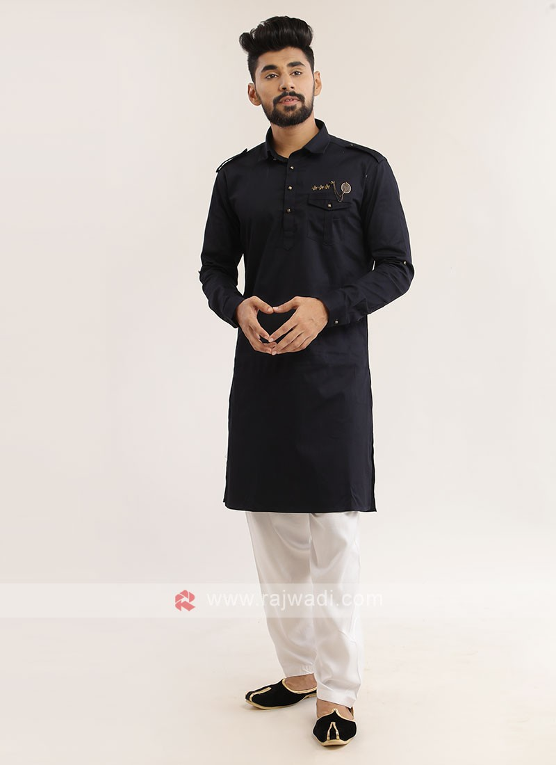 Cotton Silk Pathani Suit