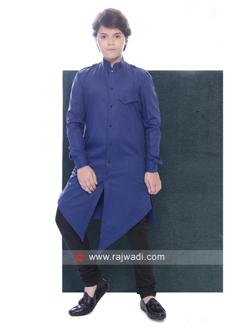 Cotton Silk Pathani Suit For Boys